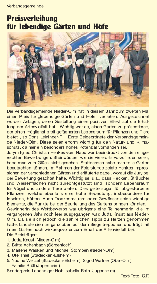 Nachrichtenblatt VG-Nieder-Olm Nr. 42 17.10.2019